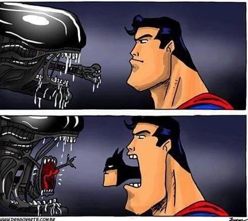 Super man/Batman vs Alien
