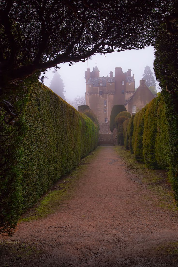 Crathes Castle ~this 16th century castle is nestled among the most delightful woodlands, near Aberdeen, Scotland.