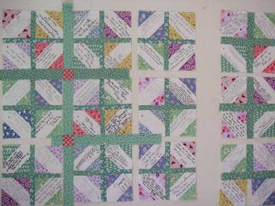 O'Quilts: Marie's birthday signature quilt/p.s. i quilt: siggy ...