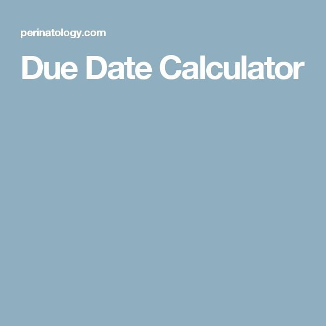 Calculate conception date