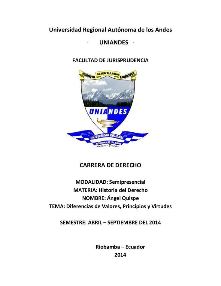 Universidad Regional Autónoma de los Andes   - UNIANDES -   FACULTAD DE JURISPRUDENCIA   CARRERA DE DERECHO   MODALIDAD: Semip...