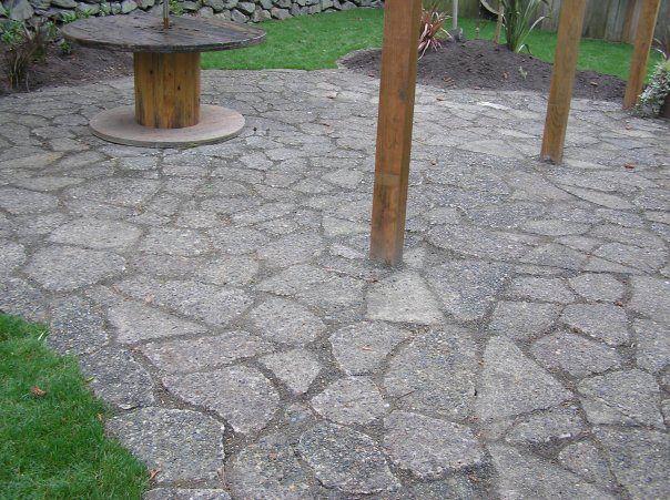 """recycled concrete patio """"urbanite"""""""