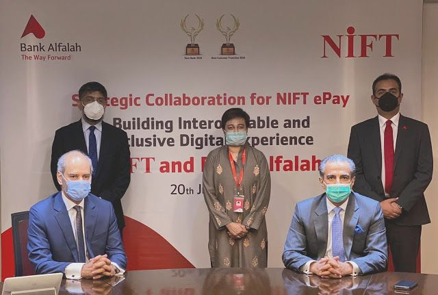 Bank Alfalah And Nift Launch Their Strategic Collaboration On Nift Epay Www Myvoicetv Com Collaboration Financial Services Product Launch