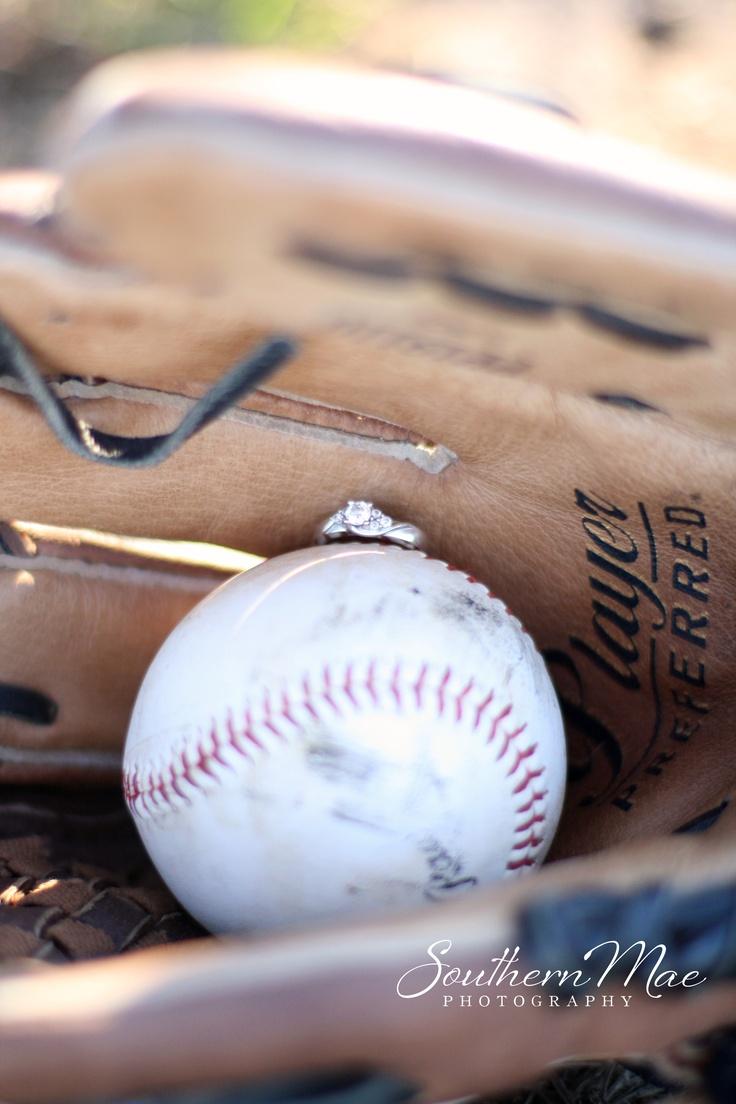 baseball engagement photos, glove, natural light photography,      Southern Mae Photography  www.southernmaephotography.com