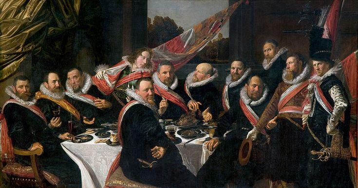 フランス・ハルス「ハールレムの聖ゲオルギウス市民隊幹部の宴会」