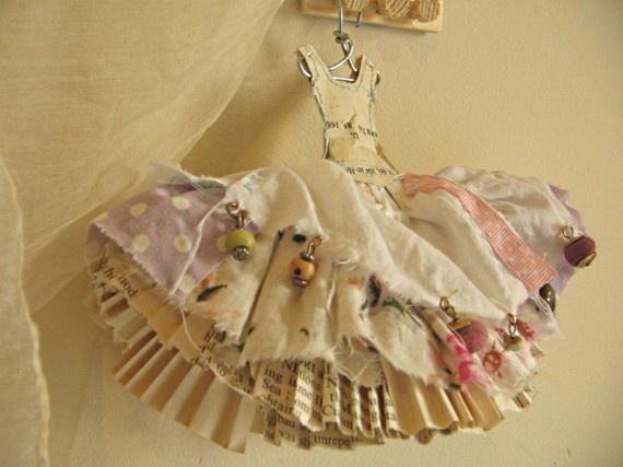 Pink paper doll dress