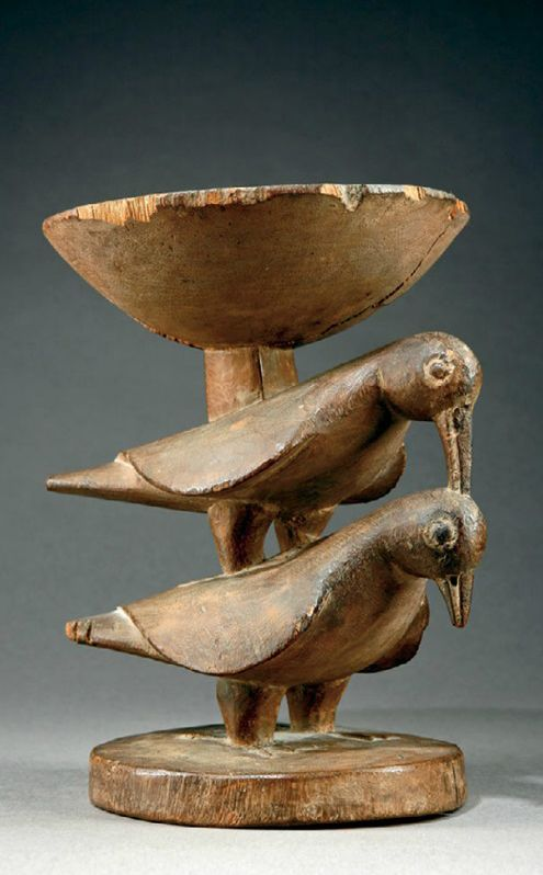 Africa | Bowl from the Yoruba people of Nigeria | Wood