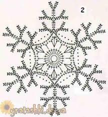 вязаные снежинки схемы -