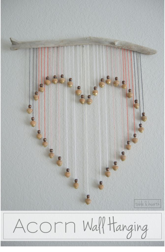 smartness ideas heart shaped wall decor. Acorn Heart Hanging I would like this idea with crystals instead of acorns  and then hang it in the window 2170 best Hearts images on Pinterest Craft art Urban