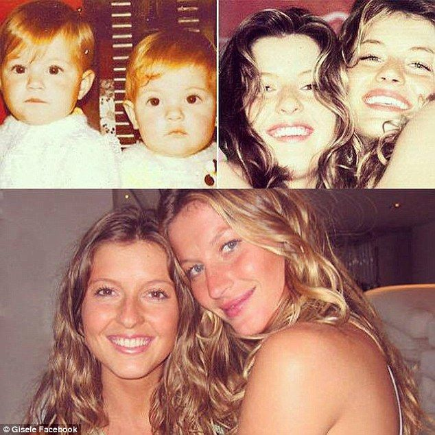 'Thank you for being always there for me': Gisele Bundchen shared a touching Facebook message and photo collage of her fraternal twin sister Patricia when they both turned 35 on Monday