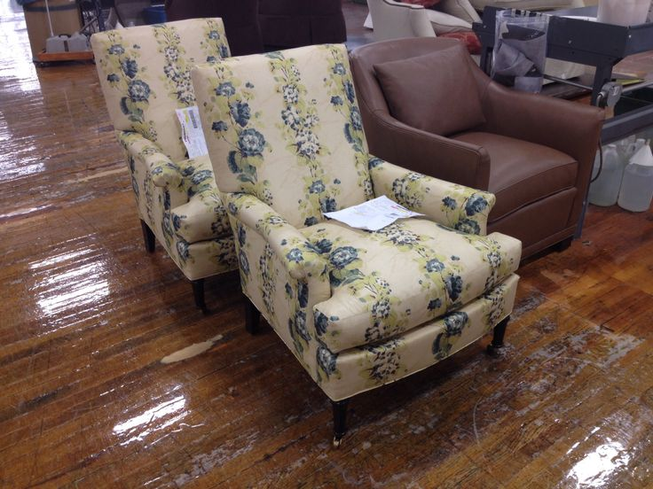 A Pair Of Virginia Chairs From Suzanne Kasleru0027s Collection In A Beautiful  Print.
