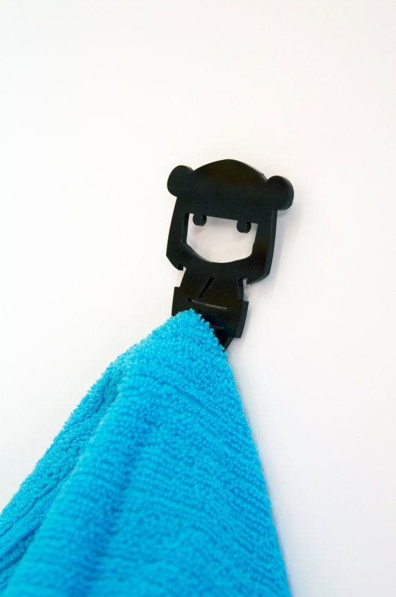 Kitchen hand towel holder. FREE SHIPPING hook rack magnet Japanese doll- Magnet hook for hanging a towel on the refrigerator