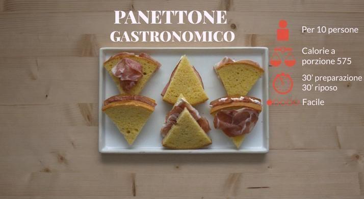 Delizia di ogni buffet, tutti gli strati offrono sapori differenti: guarda la video ricetta del panettone gastronomico agli affettati su Sale&Pepe.