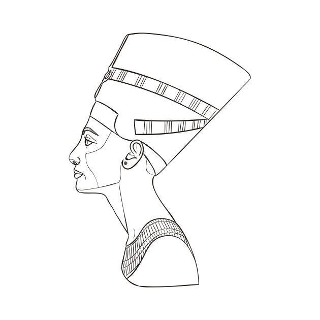 Check Out This Awesome Queen Nefertiti Design On Teepublic