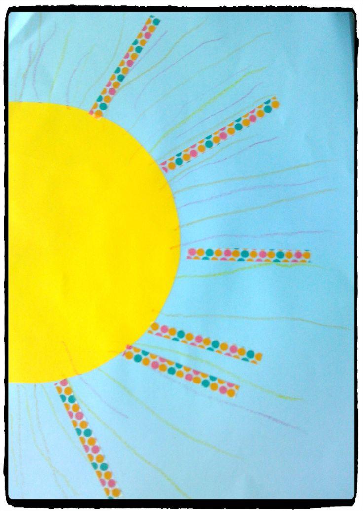 bricolage soleil, été, printemps, activité enfant