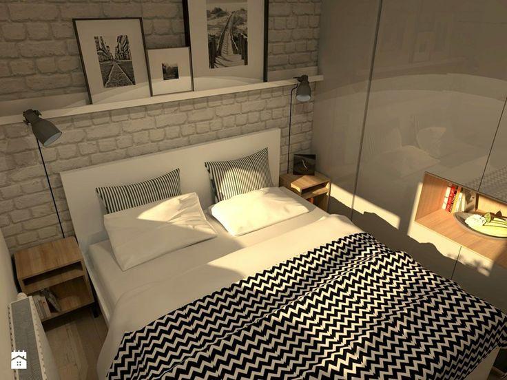 Mieszkanie w stylu loft - Mała sypialnia małżeńska, styl eklektyczny - zdjęcie od Good Place For Living