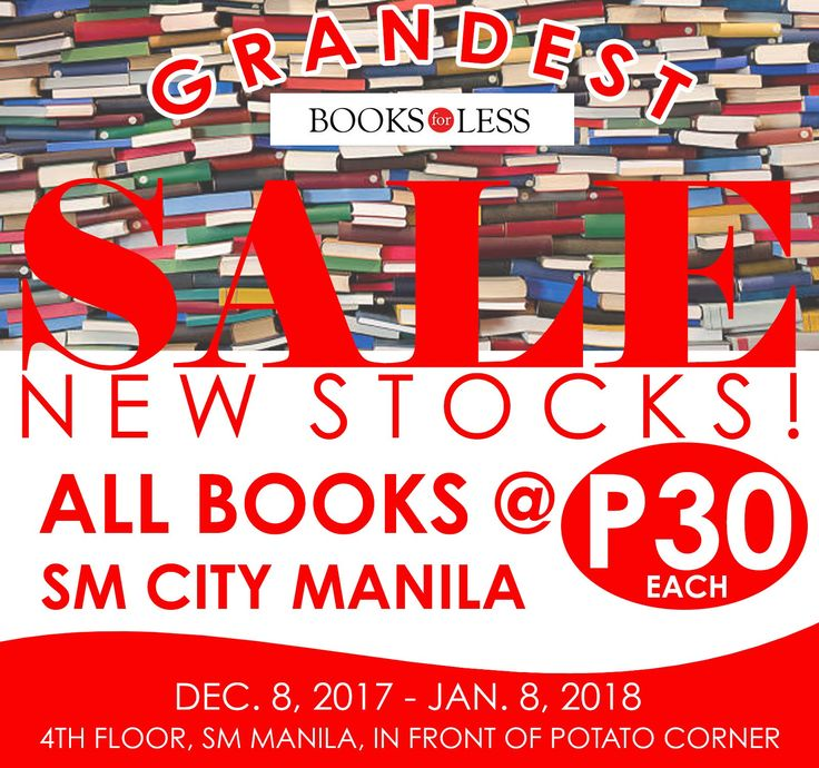 Books for Less Grandest Sale: All Books for Php30!!! CLICK HERE for more details: https://dealspinoy.com/books-for-less-grandest-sale-all-books-for-php30/ #DealsPinoy