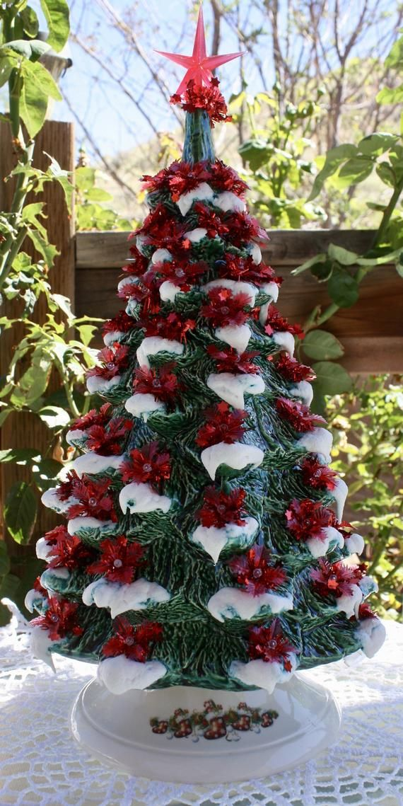 Looking For A Ceramic Christmas Tree That Brings Back Memories Of Somet In 2020 Vintage Ceramic Christmas Tree Ceramic Christmas Tree Lights Christmas Tree Decorations