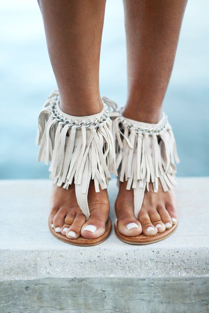 """These WONDERFUL Sybil Cream Wedges are going to be your best friend! They are super cute and comfortable with its 3"""" high heel wedge, making it perfect for a anytime stroll. The fringe layers and chai"""