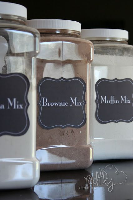 Mixes, Mixes, Mixes! Homemade bulk mixes with some free really cute printable labels. This is genious and a great gift idea! Went to the site and got these recipes off so I can make them