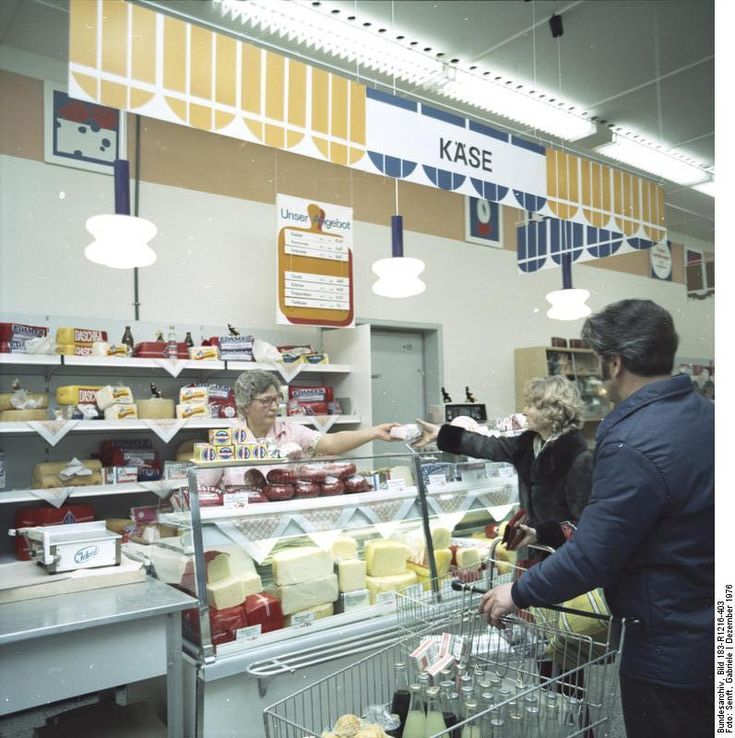 Berlin, Kaufhalle Pappelallee, 1976