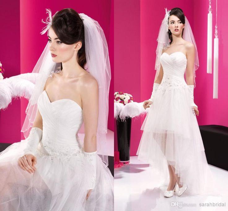 Mejores 14 imágenes de abito corto en Pinterest   Vestidos de novia ...