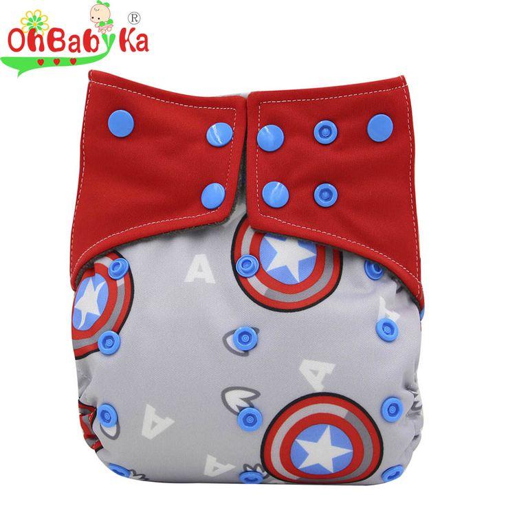 Ohbabyka Doppel Gussets Windeln Babywindeln All-in-zwei AI2 Stoffwindel Wiederverwendbare Neugeborenen Windeln Bambuskohle Tasche windel