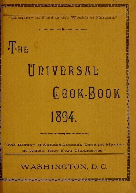 The universal cook-book