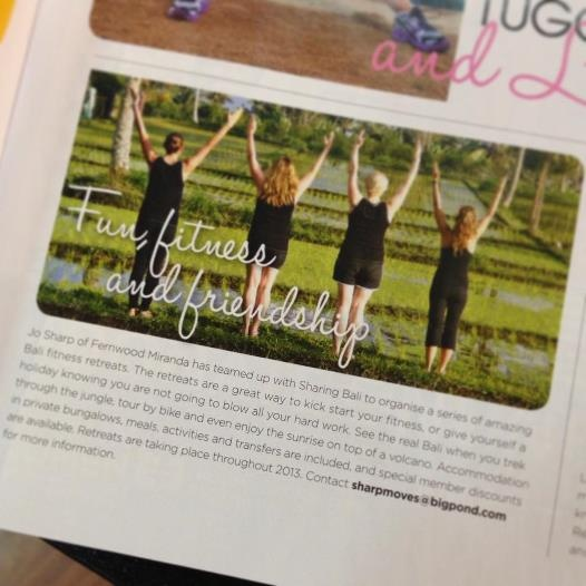 We hit Fernwood Fitness magazine March 2013