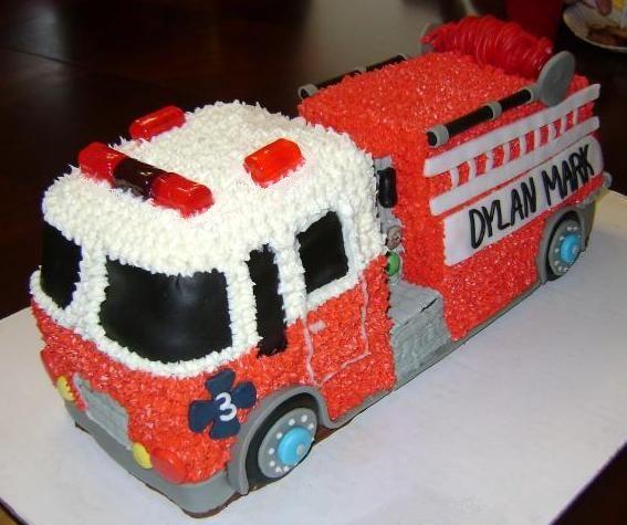Fire Truck Cake Design : 1000+ idee su Torte A Forma Di Camion Dei Pompieri su ...