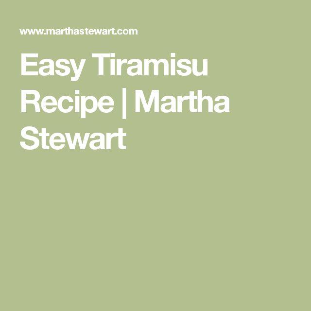Easy Tiramisu Recipe | Martha Stewart