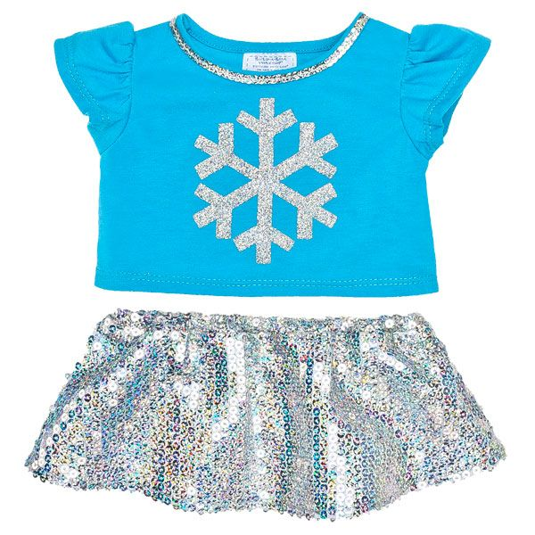 Turquoise Snowflake Skirt Outfit 2 pc. - Build-A-Bear Workshop US