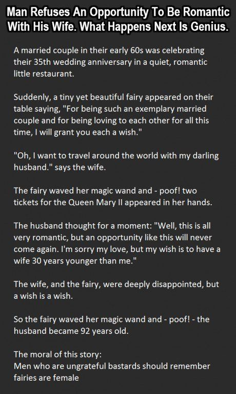 Man Refuses An Opportunity To Be Romantic What Happens Next Is Genius funny quotes quote marriage jokes story lol funny quotes joke humor stories marriage humor