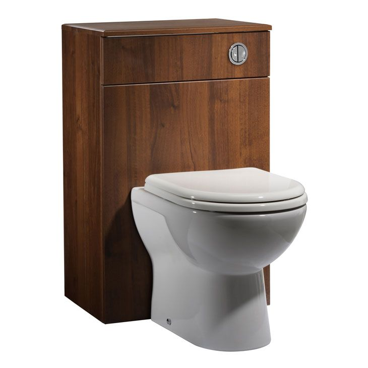 Tavistock Opal Walnut Back to Wall Toilet Unit, Worktop, Back to Wall Pan and Soft Close Toilet Seat - 500mm Wide