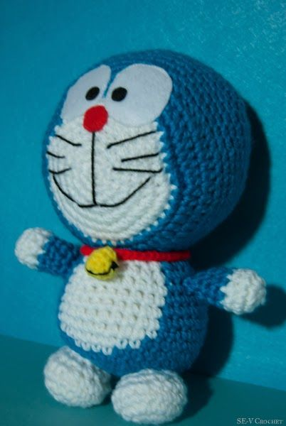 Crochet Doraemon Amigurumi : Best images about pupazzi cartoni animati on pinterest