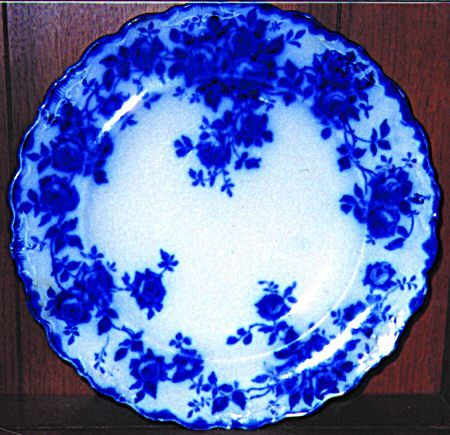 ♥️ J. and G. MEAKIN Leon   Flow Blue China