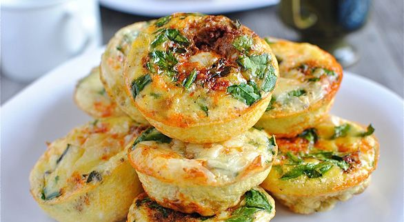 MIni Frittatas by BevCooks: Made with eggs, baby spinach, Mexican ...