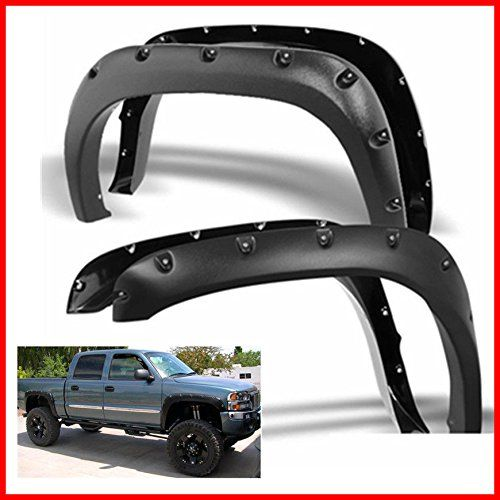 Nova Fender Flares For 99-06 Chevy Silverado Suburban GMC Yukon Avalanche OE Style with Hardware Kit (Pack of 4) Re-Paintable Smooth Matte Black 1999 2000 2001 2002 2003 2004 2005 2006:   Model & Year :br br br br 1999-2006 Chevy Silverado ( Not for step-side & Flare sidesub-model )br 2007 Chevy Silverado Classic Models1999-2006 GMC Sierra ( Not For Dually )br 2007 GMC Sierra Classic Modelsbr 2000-2006 Chevy Suburbanbr 2000-2006 GMC Yukon XLbr 2002-2006 Chevy Avalanche Without Body Cla...