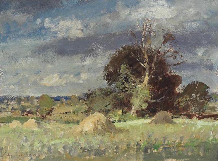 Edward Seago   Norfolk Hayfield