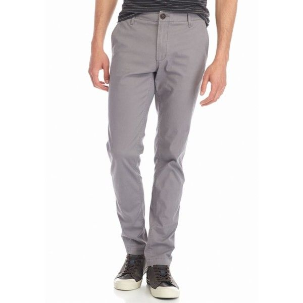 Red Camel Jet Gray Slim Fit Stretch Chino Pants ($35) ❤ liked on Polyvore featuring men's fashion, men's clothing, men's pants, men's casual pants, jet gray, mens chinos pants, mens stretch pants, mens grey pants, mens slim pants and mens chino pants