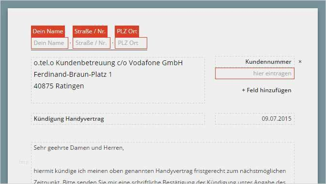 31 Fabelhaft Vodafone Kundigungsschreiben Vorlage Ideen Handyvertrag Vorlagen Kundigung Schreiben