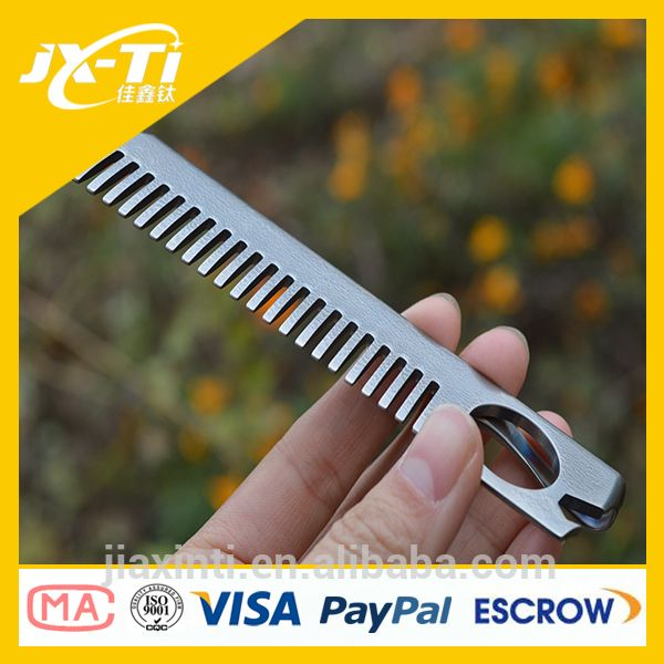 Source Durable Unisex Barber Shop Equipment Titanium Comb with Bottle Opener Money Clip on m.alibaba.com