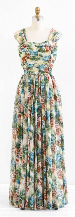 Dress 1940s Rococo Vintage