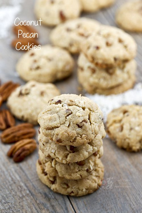 The fragrance and combination of flavors in these Coconut Pecan Cookies are sure to please. Perfect for tea time or the holidays.