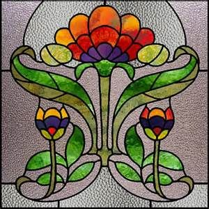 art of stained glass art nouveau poppies