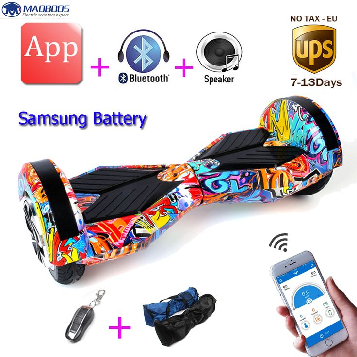 No tax APP Samsung battery Two Wheel self balance electric Hoverboard Skateboard Electric Unicycle standing Drift scooter