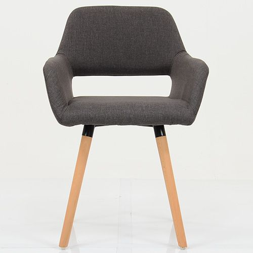 STOCKHOLM BROWN FABRIC DINING CHAIR The Stockholm Brown Fabric Gives A Look  Of Warmth To This