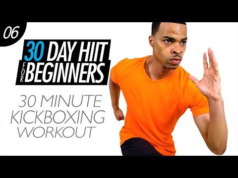 30 Min. Total Body Cardio Kickboxing Workout for Beginners | Beginner HIIT #06 - YouTube