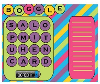 This is a free Boggle game for the Smartboard. It has extra