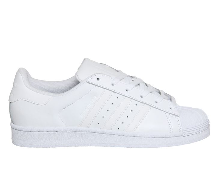 Buy White Mono Foundation Adidas Superstar GS from OFFICE.co.uk.